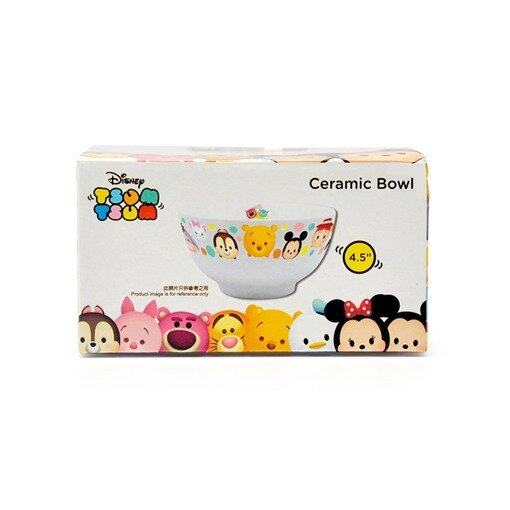 Disney Tsum Tsum Ceramic Bowl 4.5 Inches - White Colour