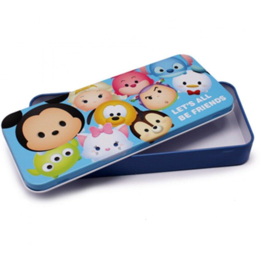 Disney Tsum Tsum Tin Pencil Box - Blue Colour