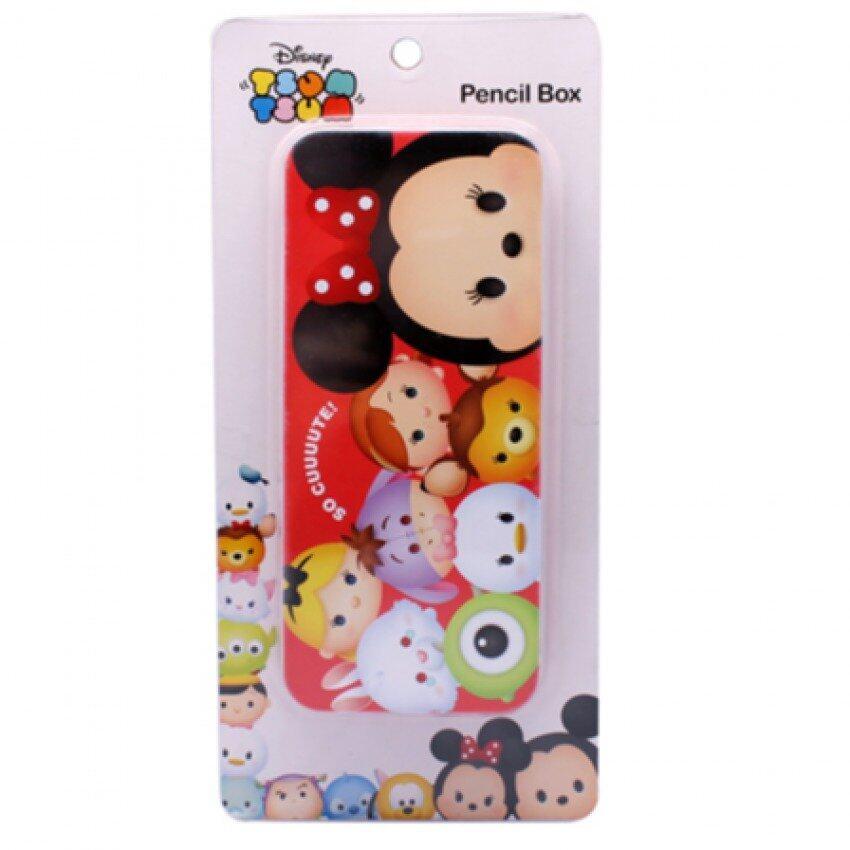 Disney Tsum Tsum Tin Pencil Box - Red Colour