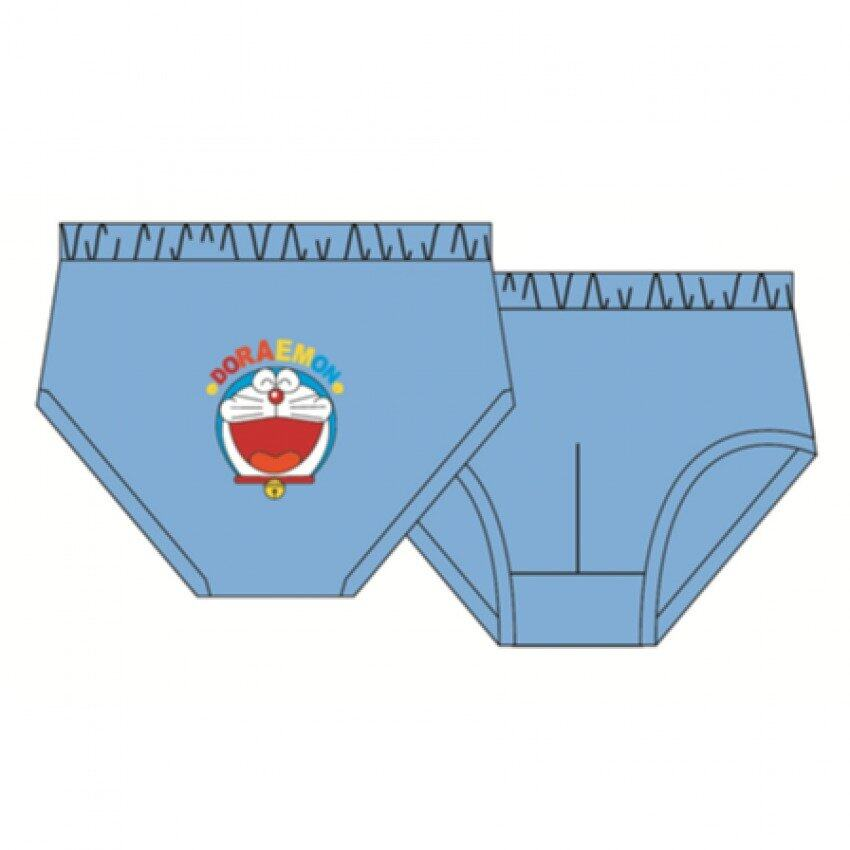 Doraemon Boy's Briefs Set 100% Cotton 4yrs to 12yrs - Grey Light Green And Dark Blue Colour