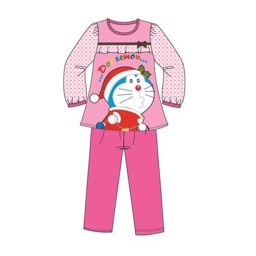 Doraemon Christmas Homewear 100% Cotton 4yrs to 12yrs - Pink Colour
