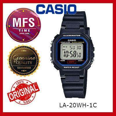 (2 YEARS WARRANTY) CASIO ORIGINAL LA-20WH-1C DIGITAL KID'S WATCH