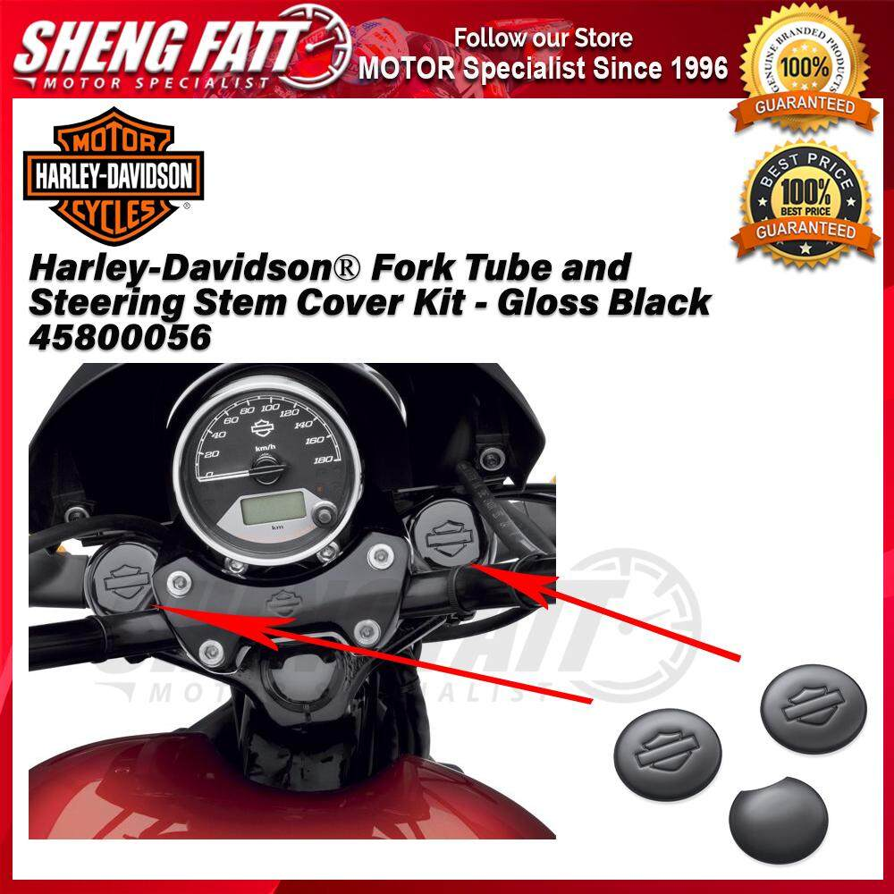 Harley-Davidson® Street™ Family Fork Tube and Steering Stem Cover Kit - Gloss Black 45800056