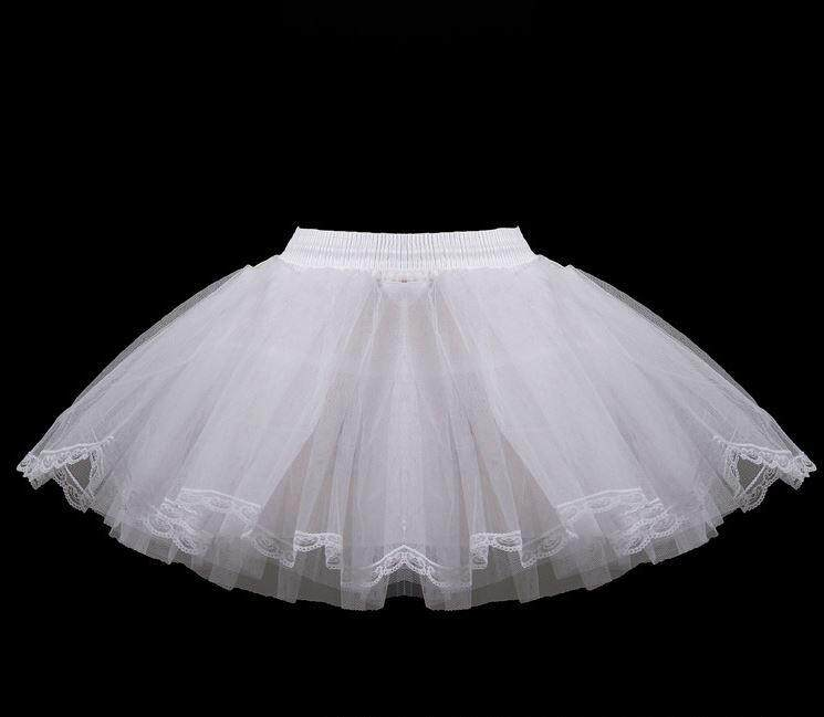 Kids Girl Wedding Dress Ball Gown 3 layer Petticoat Skirt Slips