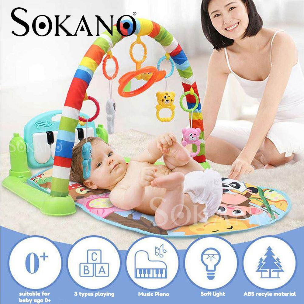 (RAYA 2019) SOKANO BY698-61 Piano Type Baby Toddler Playgym Playmat Play Gym With Music & Lights