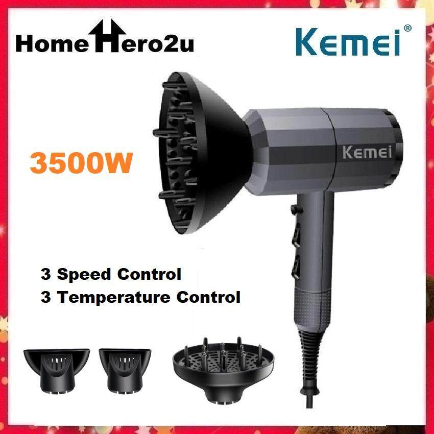 Kemei Professional Hair Dryer Strong Power 3500W Powerful Electric Blow Dryer Hot/Cold Air Hairdryer Barber Salon Tools KM-5814 - Homehero2u