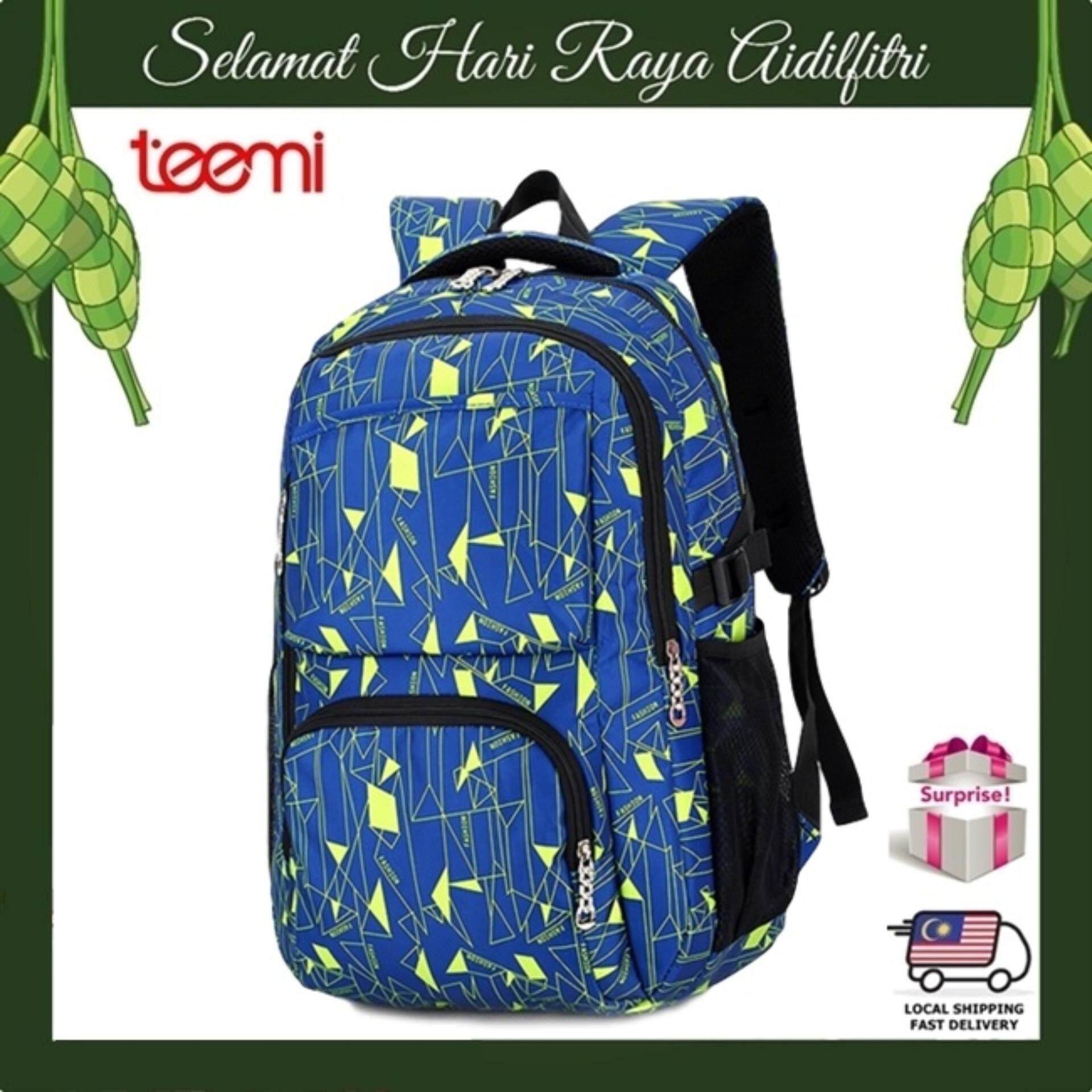 TEEMI Geometric Printing Unisex Nylon Backpack Leisure Casual Teen College School Travel Laptop Bag