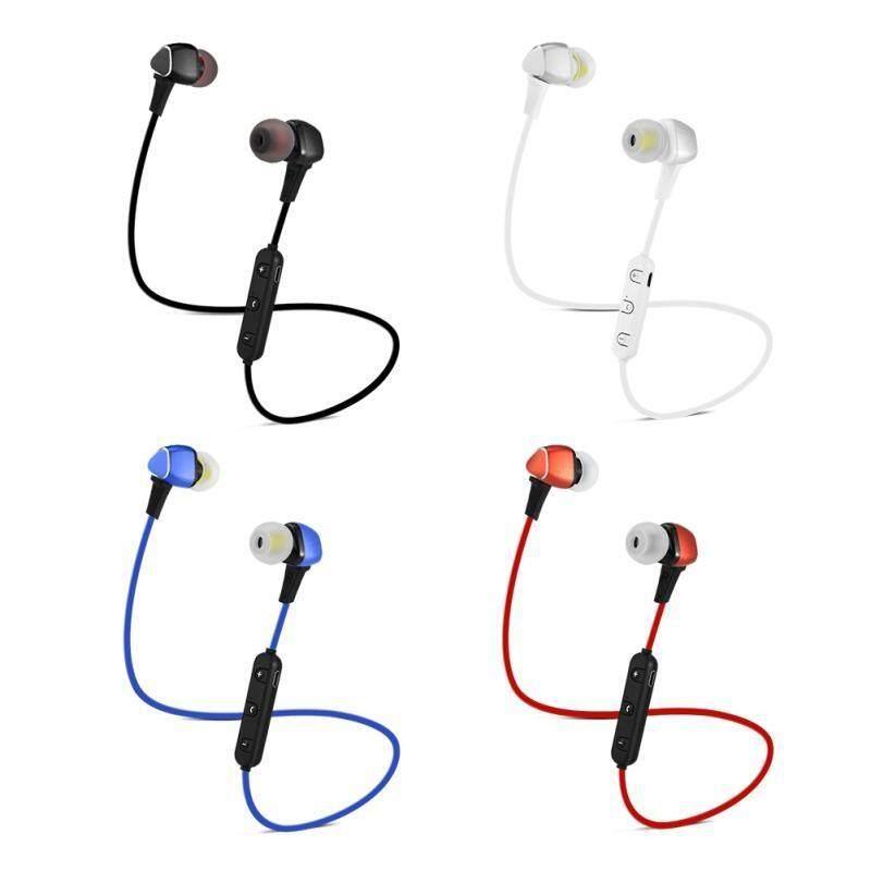On-Ear Headphones - Wireless Bluetooth V4.1 Earphone Sport Headphone Hands-free In-ear Headset - [BLACK / RED]