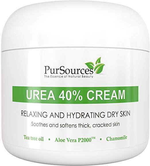 PurSources Urea 40% Foot Cream 4 oz - Best Callus Remover - Moisturizes & Rehydrates Thick, Cracked, Rough, Dead & Dry Skin - For Feet, Elbows and Hands + Free Pumice Stone