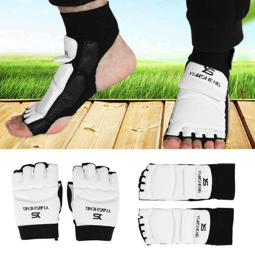Taekwondo Gloves Sparring Hand Foot Protector Cover Half Finger Boxing Gloves