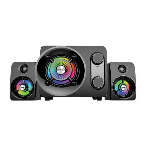 Sonic Gear Titan 7 BTMI 2.1 Speaker System with Subwoofer Bass LED Pulsing Color Effect Support AUX Bluetooth USB FM Radio SD Card