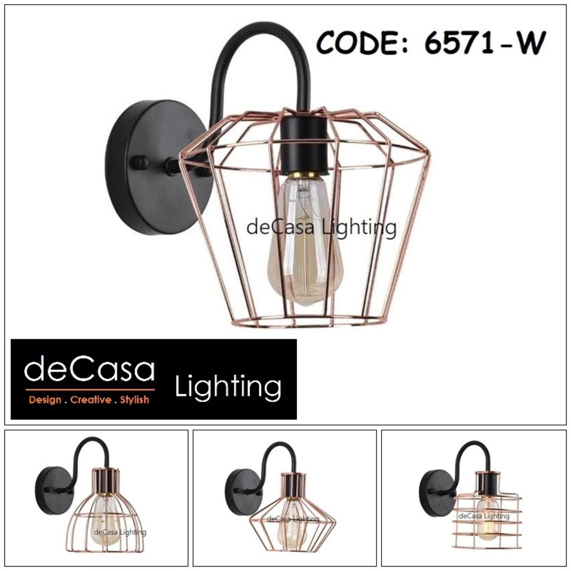 Industrial Retro Rose Gold Light Wall Sconce Lamp Fixture Indoor Wall Lamp E27 Lampu Hiasan Dinding (NSB-ZF)