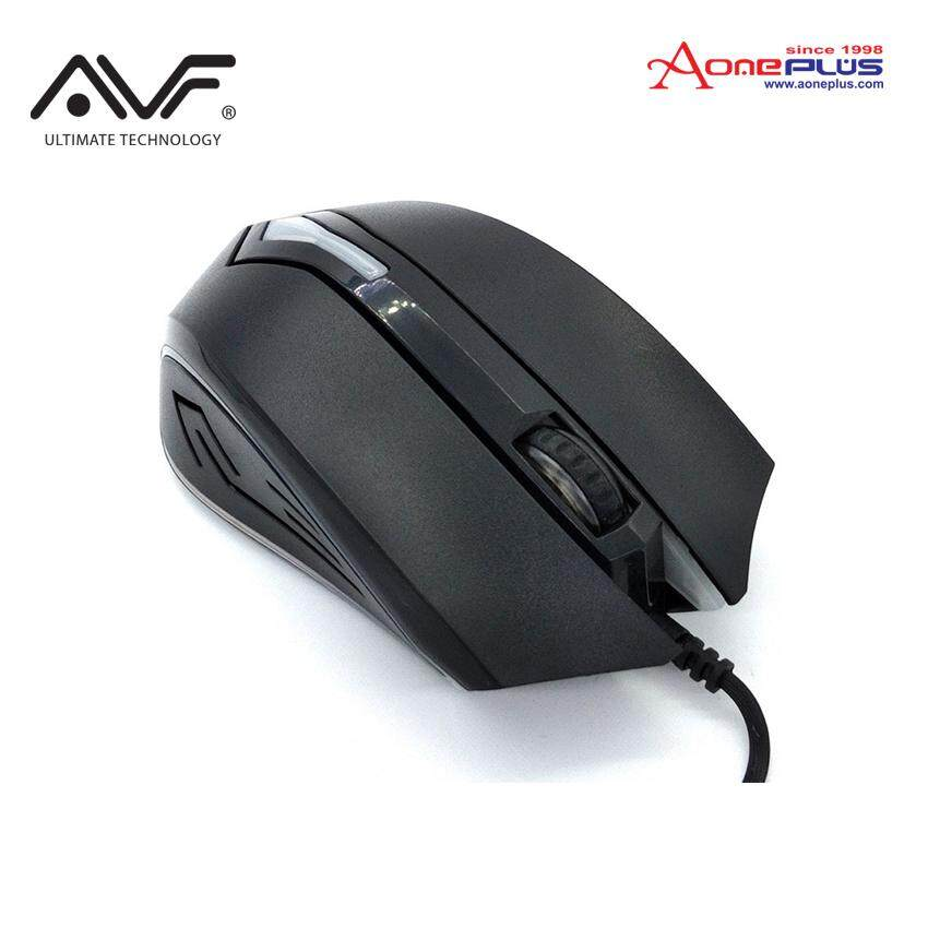 AVF Gaming Gears Rapid 2 Series Optical Gaming Mouse with Colourful Backlight AGG-R02 - Black