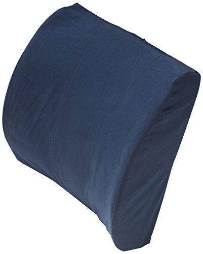 Signature Lumbar Cushion, Navy by Hermell, Back Support Pillow Board Alignment Strap