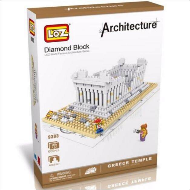 Architecture/Building Series: Athena Greek Temple Loz 9383 Nano/Diamond Block [Nanoblock Compatible]