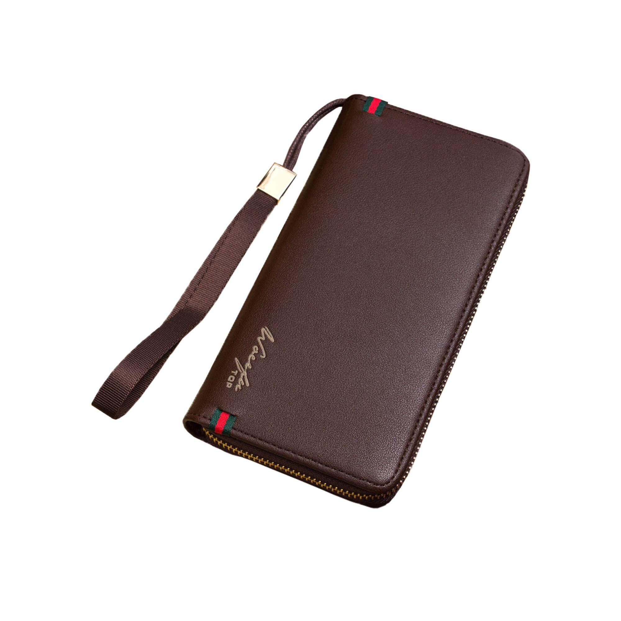 Original WoErFu WLT-012 AP012 RFID Man Business Luxury Card Holder Long Men Wallet