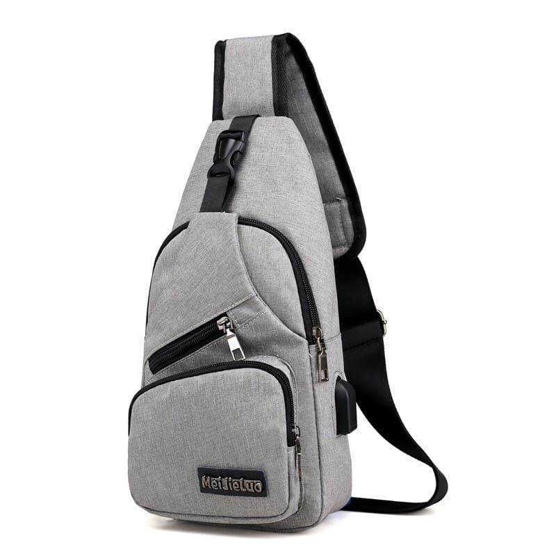 [Ready Stock] 2019 Korean Series Water Resistant Men\'s Canvas Chest Bag  Cross Body Sling Bag Multifunction Casual Shoulder Pouch BagPack Backpack