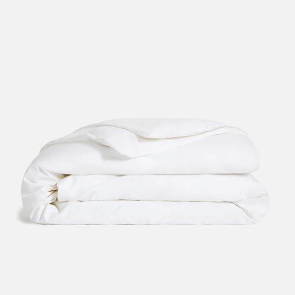 """Linen Series, Poly Cotton 200TC White Duvet Cover - Super Single 70""""x 90"""""""