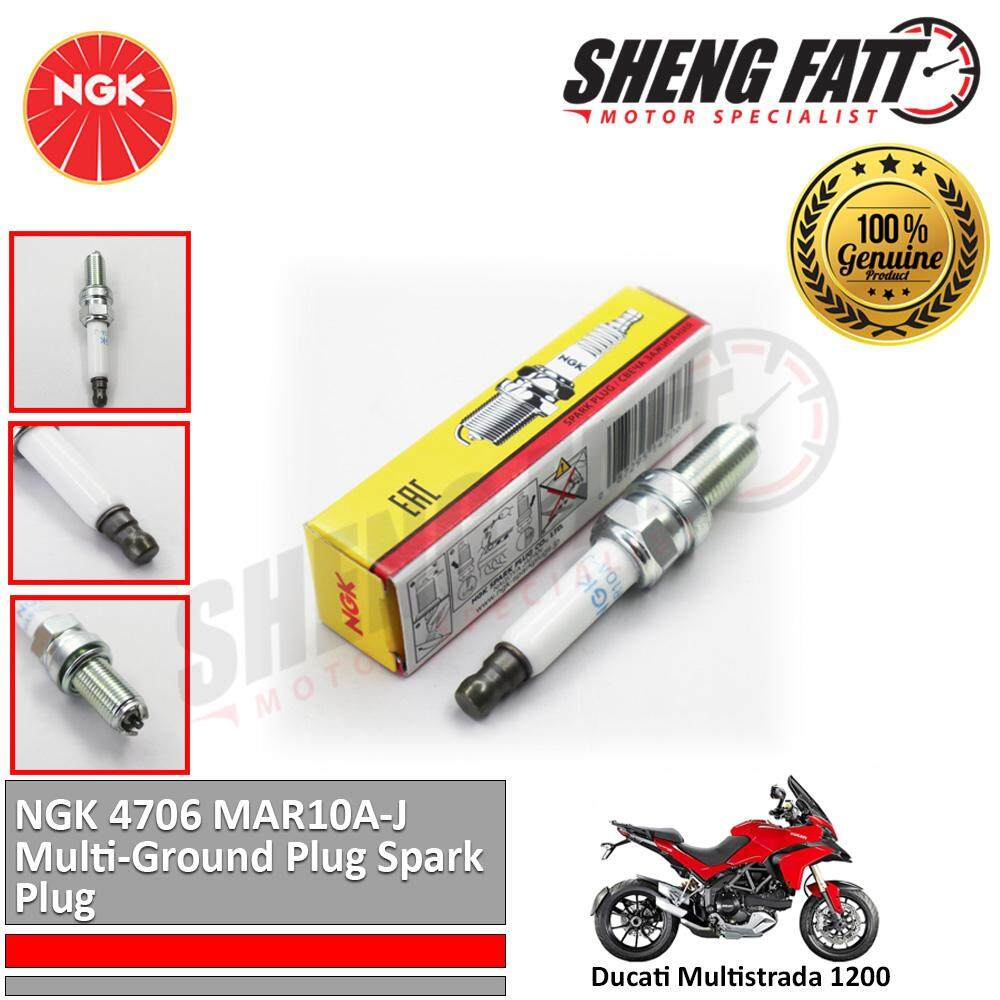 Ducati Multistrada 1200 NGK 4706 MAR10A-J Multi-Ground Plug Spark Plug