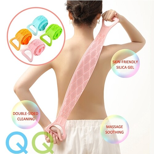 QQ Magic Silicone Brushes Bath Towels Rubbing Back Mud Peeling Body Massage Shower Extended Scrubber Skin Clean Shower Brushes