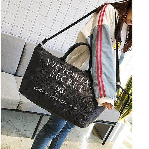 Victoria's Secret Classy Shiny Large Tote Shopping Bag With Adjustable Strap