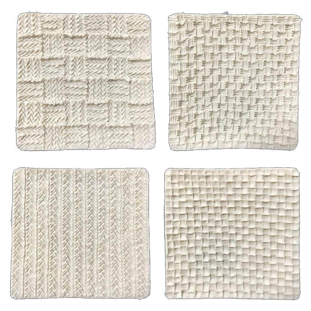Detail Gambar Fang Fang Fondant Silicone Cetakan Sweater Rajut Tekstur Timbul Piring Kue Pola Alat Terbaru