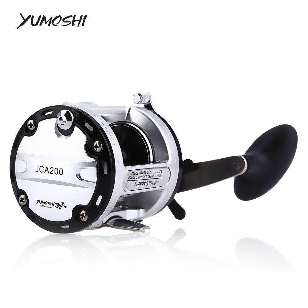 YUMOSHI 12 + 1 BALL BEARINGS CAST DRUM FISHING REEL (COLORMIX, RIGHT HAND 200)