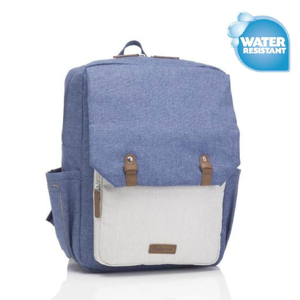 Babymel George Backpack - Mid Blue & Oatmeal