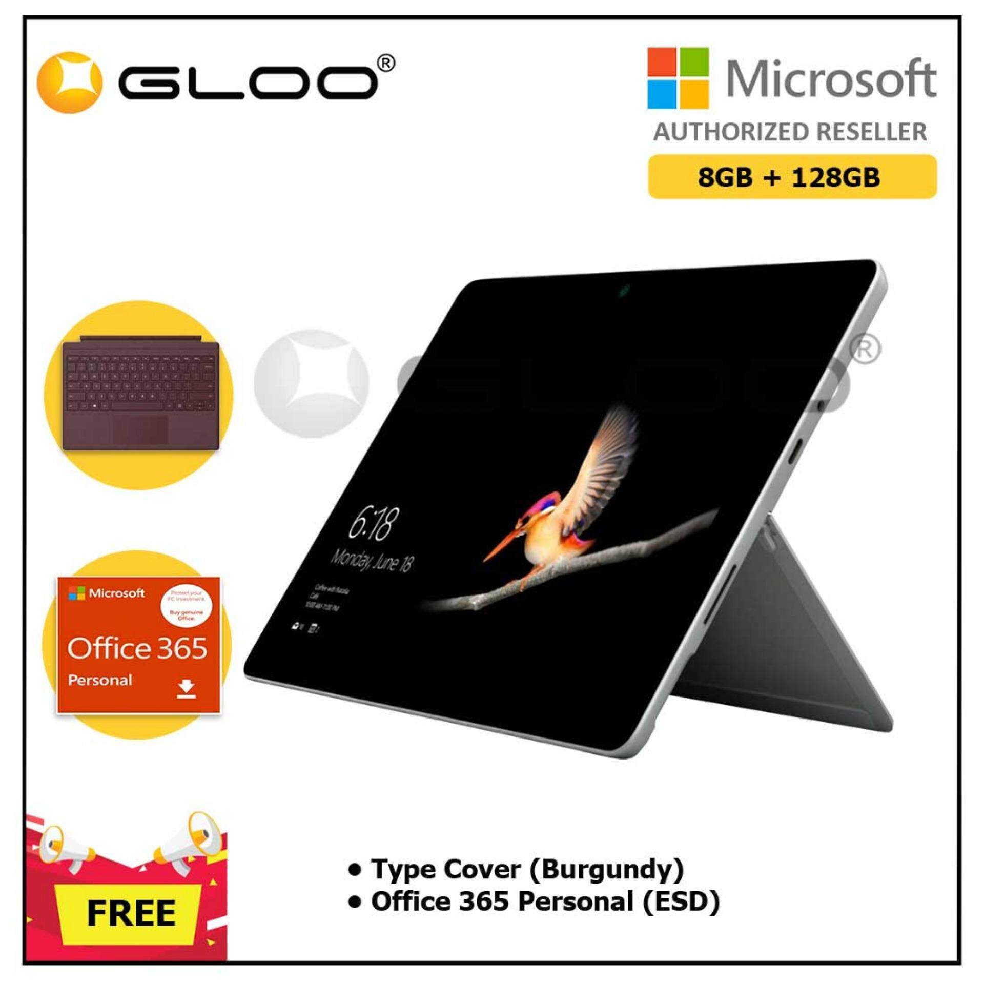 Surface Go Y/8GB 128GB + Surface Go Type Cover Burgundy + Office 365 Personal ESD