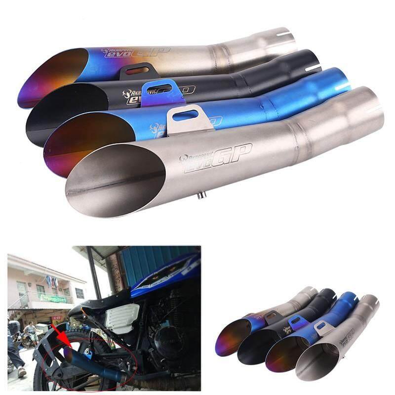 Moto Accessories - Stainless Steel Universal Motorcycle Motocross Exhaust Muffler Pipe Tip - [TITANIUM COLOR / BLACK / BLUE / HALF BLUE]