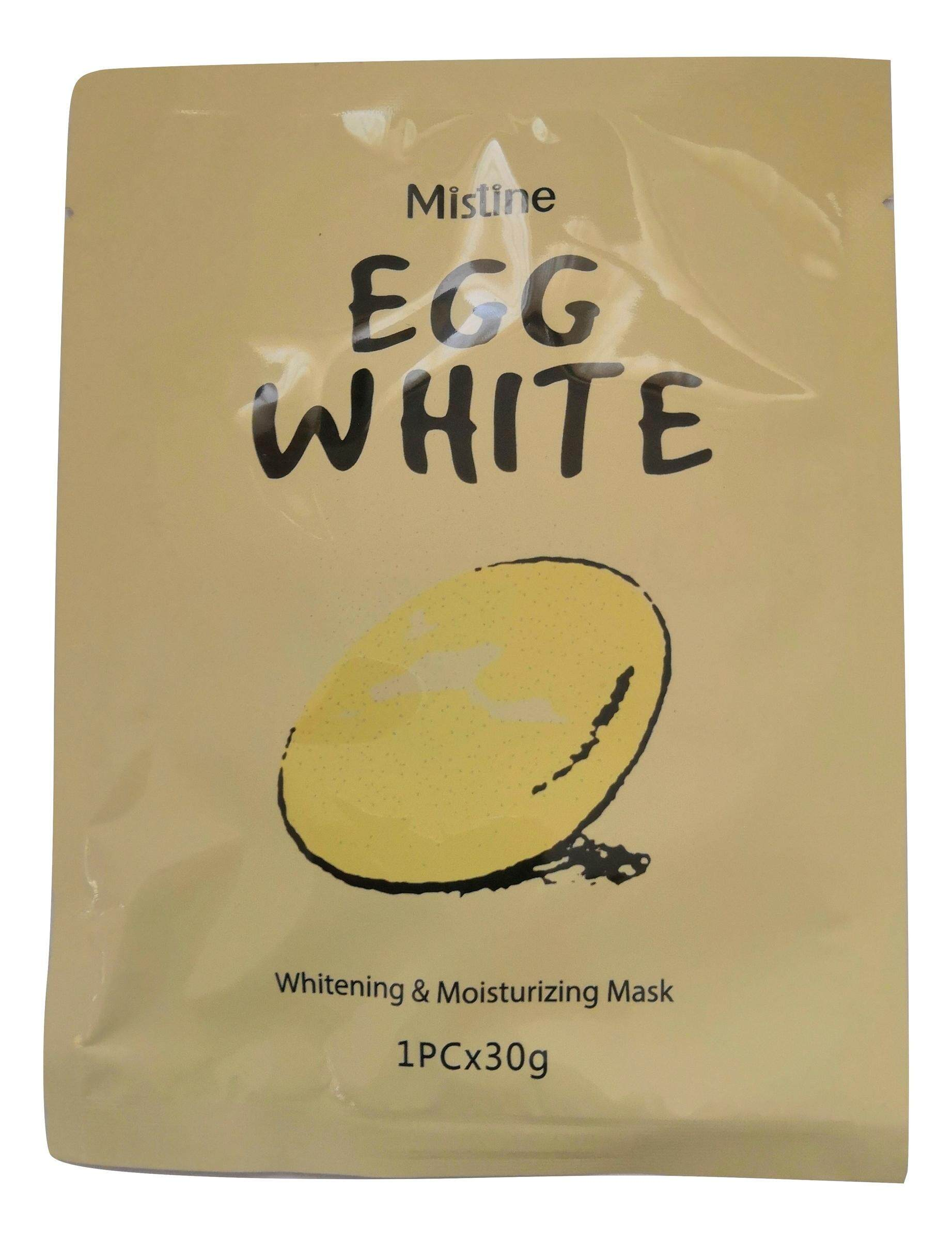 Mistine Eggwhite Sheet Mask and free one favourite mistine peel off egg white mask