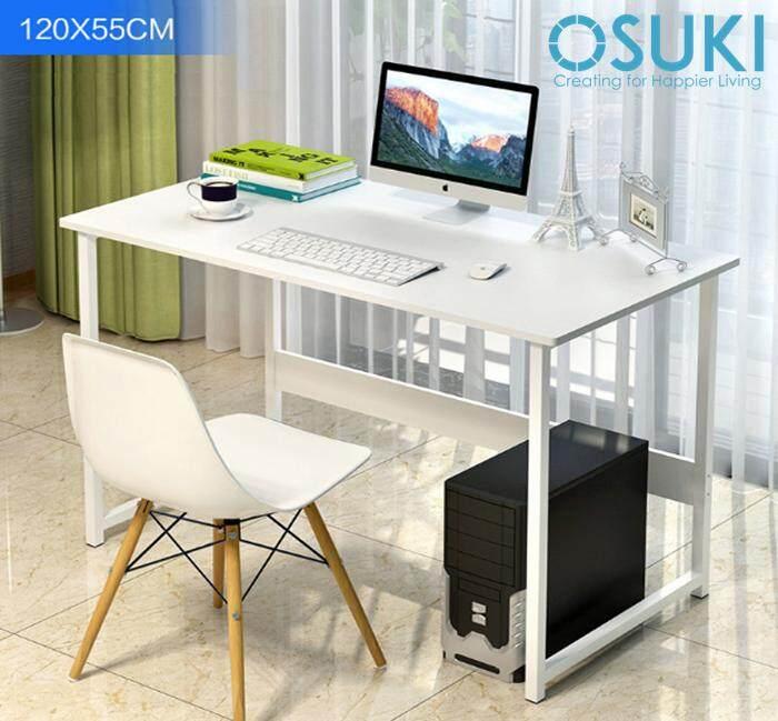 OSUKI Japan High Quality Modern Office Table 120 x 55cm (White)