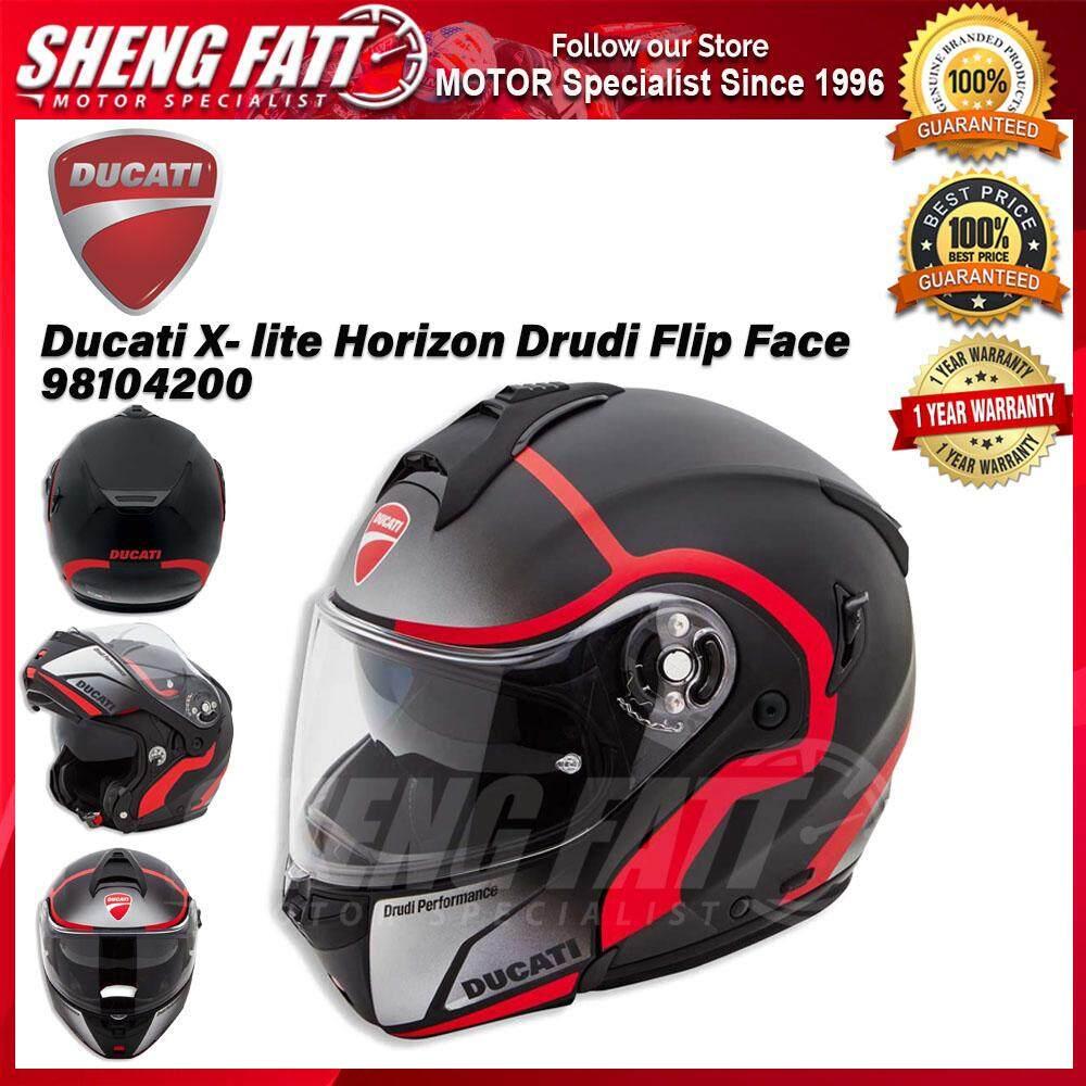 Ducati X- lite Horizon Drudi Flip Face Helmet Motorcycle 98104200 - [ORIGINAL]