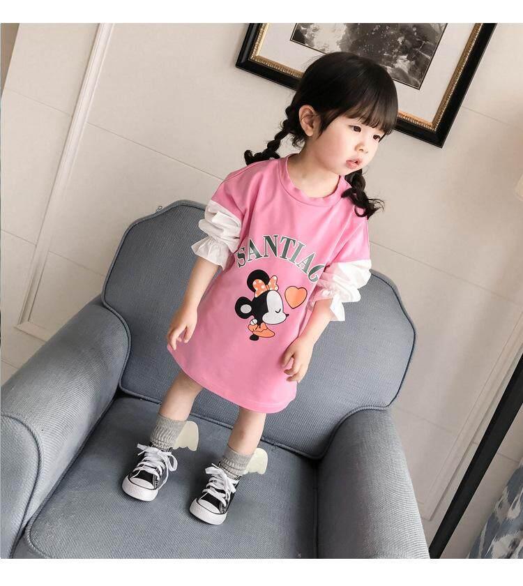 5d98558920b2 (2yrs) Toddler Kids Girl Long Sleeves T-shirt Dress