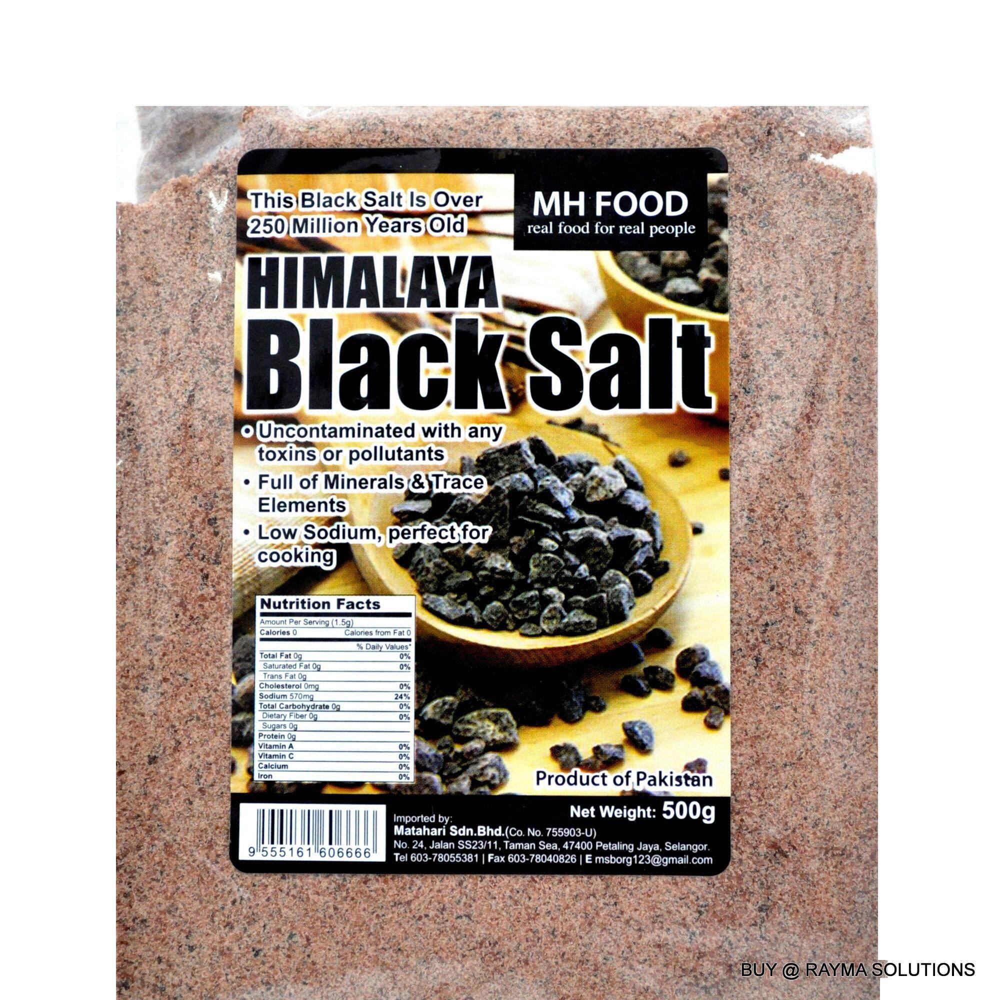 [BEST DEAL] MH FOOD Premium Himalaya Black Salt - Fine 500g (6 Packs)