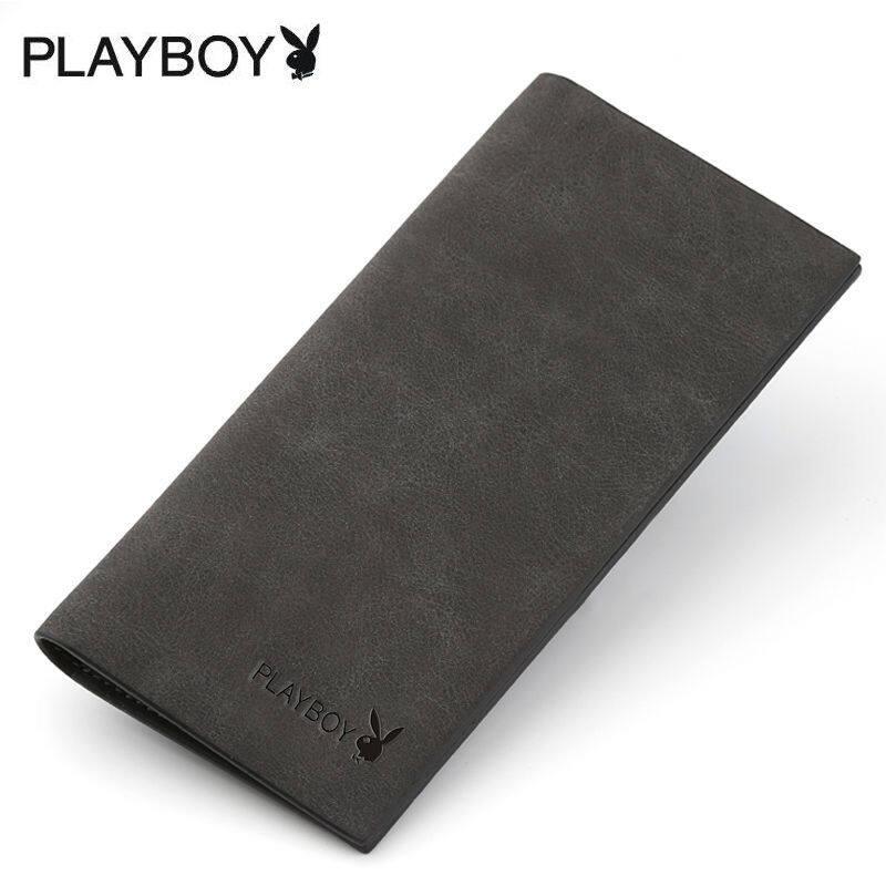 Dompet untuk Pria Playboy Lebih Banyak Layar Pria Muda Dompet Dompet Panjang Jepang dan Korea Selatan Dompet Santai Dompet Ramping Paket Gelombang Surat