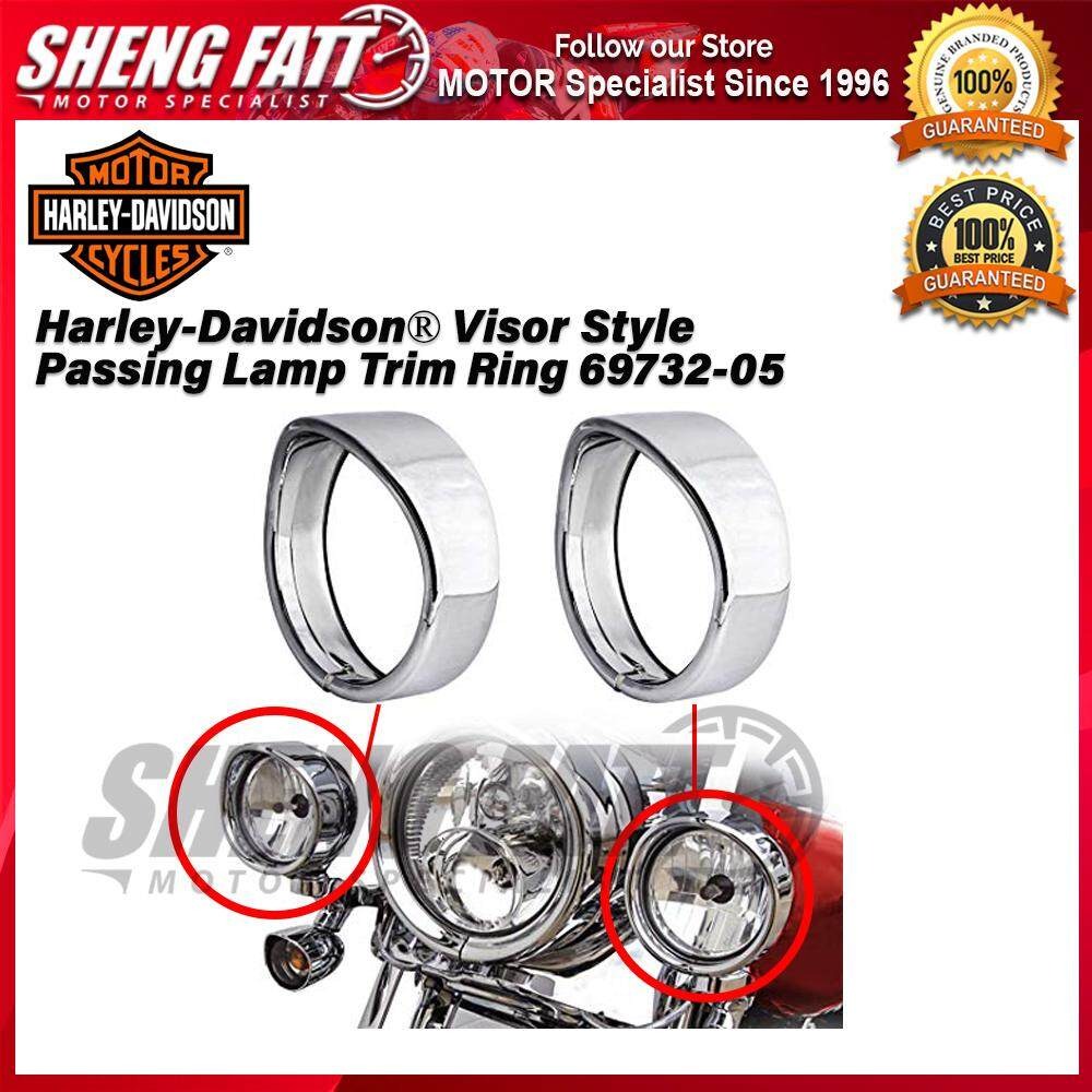 Harley-Davidson® Visor Style Passing Lamp Trim Ring 69732-05 - [ORIGINAL]