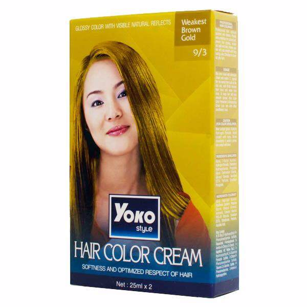 (brown gold) yoko style hair colour cream (halal) 30ml all colour available