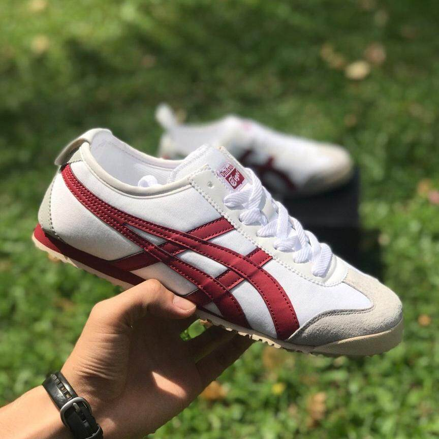 best service d7d2a 586ee ONITSUKA TIGER WHITE RED WINE 41-45 EURO