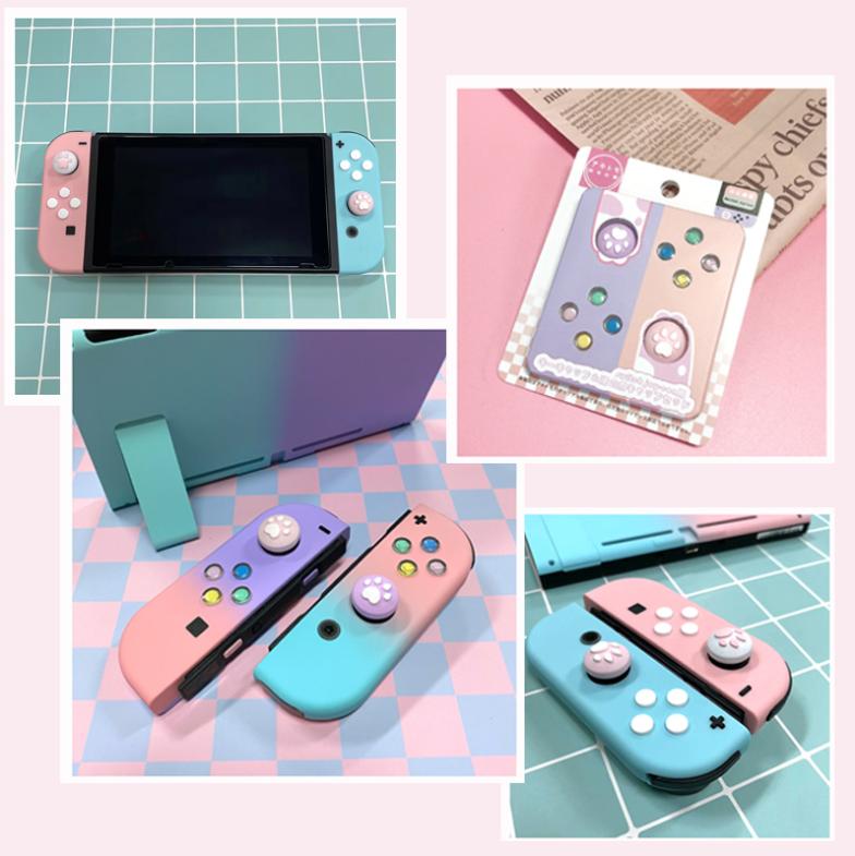 Hình ảnh Công Tắc Đầy Màu Sắc Hướng Dẫn Các Nút Phím Cần Điều Khiển Cho Nintendo Switch NS NX Console Joy-Con Nút Thay Thế Bên Trái