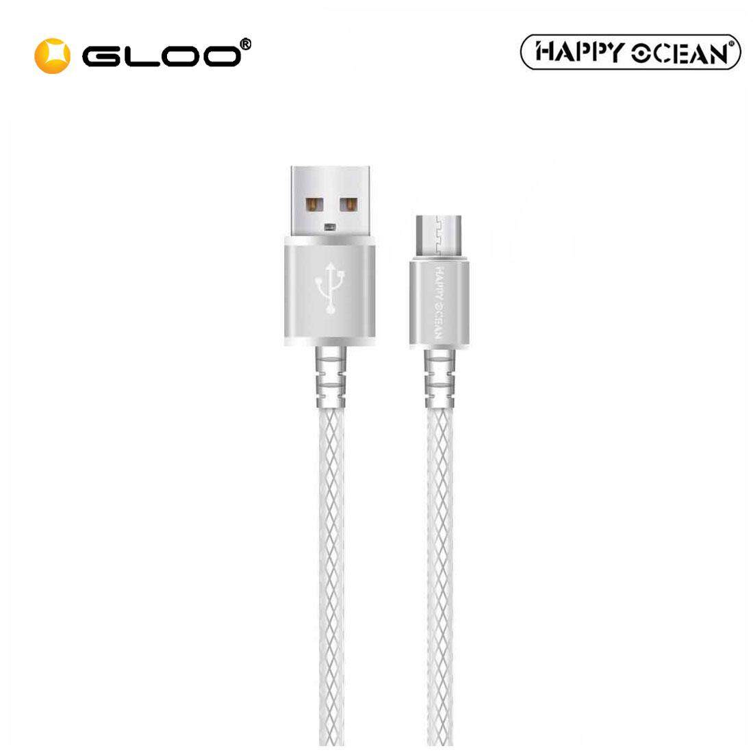 Happy Ocean H01 Micro USB Cable (Rose Gold/Silver)