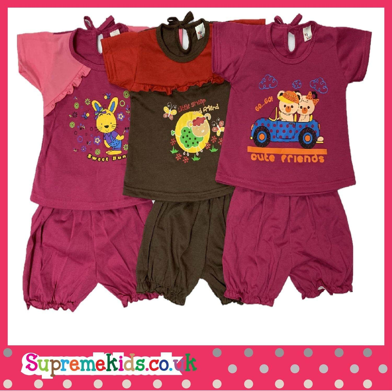 3 Pasang Mix And Match Newborn baby Girl suit