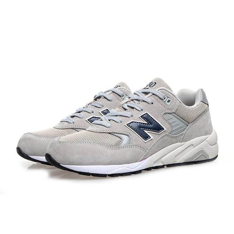 สุราษฎร์ธานี NEW BALANCE 580 NB580 สีเทาอ่อนผู้ชายและชุดกีฬาวิ่งสตรีรองเท้าระบายอากาศ
