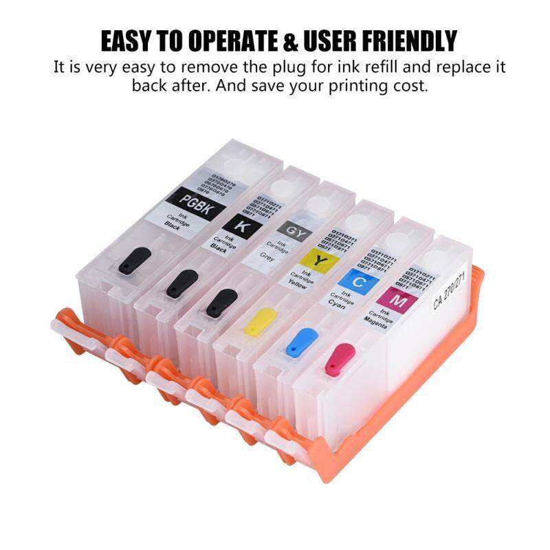 Ink - Universal 270/271 Refillable Ink Cartridge with ARC Chip Canon PIXMA MG7720/5020