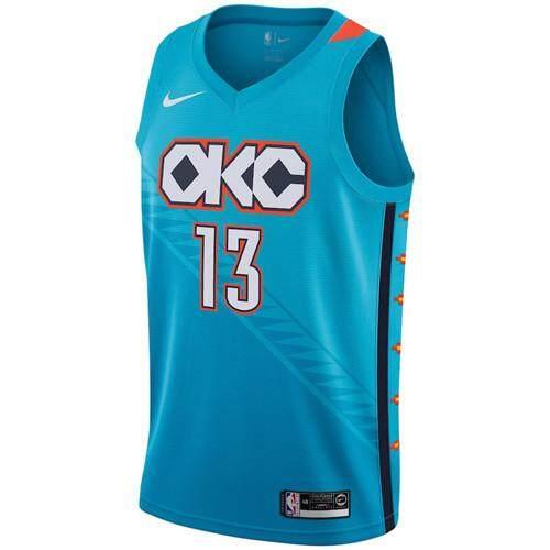96b87cf639e8 Detail Gambar Gemuruh Kota Oklahoma Paul George   13 Jordan Merek Hitam  2019 NBA All-Star Game Selesai Swingman Kualitas Tinggi Pria Basketballl  Jersey ...