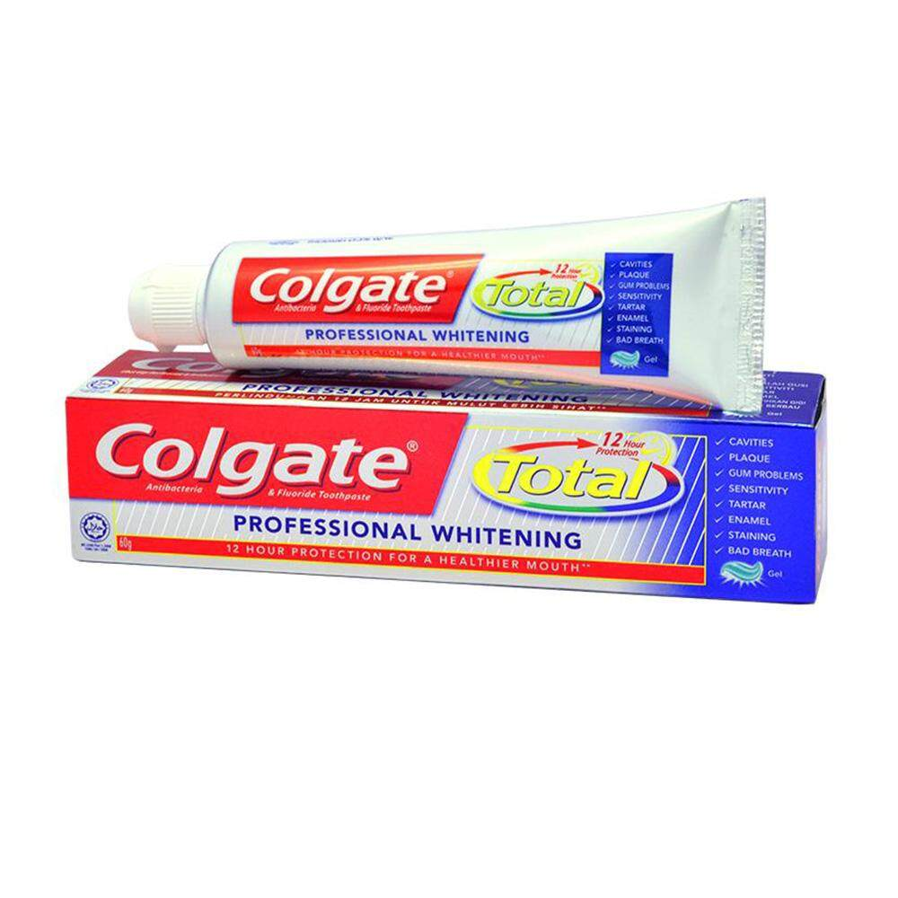 Colgate Total Professional Whitening Toothpaste 60g Travel Sample Trial