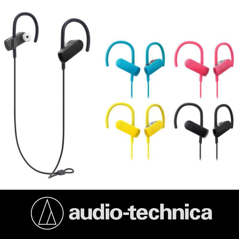 Audio Technica ATH-SPORT50BT Sonic Sport Bluetooth 4.1 Wireless In-Ear Headphones IPX5 Water Resistant with In-line Control 9mm Drivers