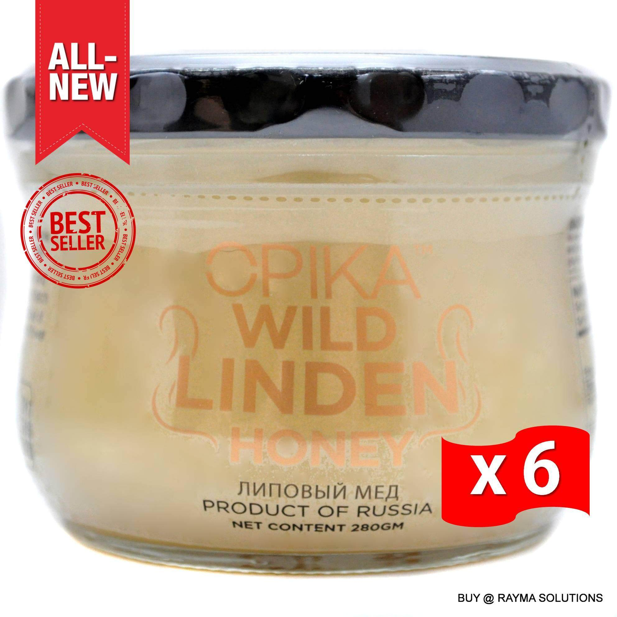 [BEST DEAL] OPIKA Wild Linden Russian Honey 280g (6 Jars)