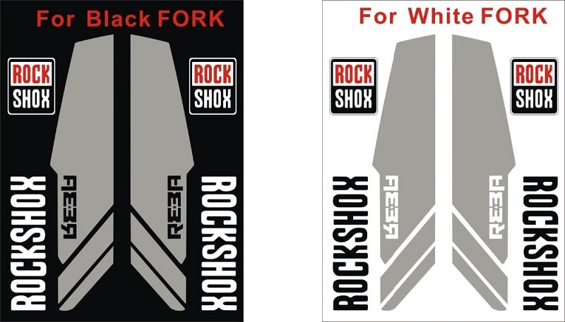 2018 REBA fork Stickers Rock Shox front fork Decals For bike bicycle cycle race