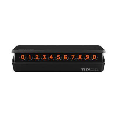 Glow In The Dark Temporary Parking Phone Number Plate- Black
